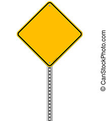 vide, signe jaune