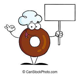 vide, tenue, signe, beignet