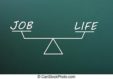 vie, équilibre, vert, métier, tableau