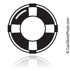 vie, aide, -, ceinture noire, icône