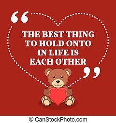 vie, amour, autre., quote., chose, mariage, inspirationnel, chaque, prise, sur, mieux