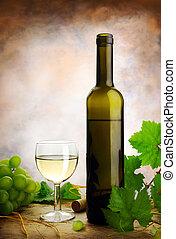 vie, encore, raisins, vin