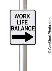 vie, manière, équilibre, travail, ceci