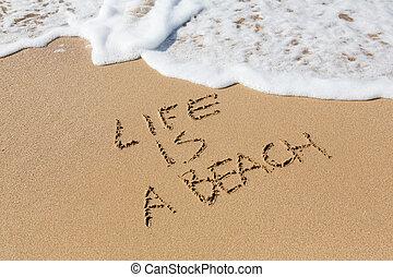 vie, plage