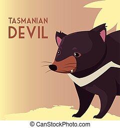 vie sauvage, animal, australien, diable, tasmanien