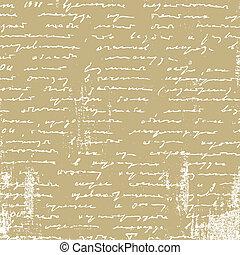 vieillissement, manuscrit, papier brun, illustration, vecteur
