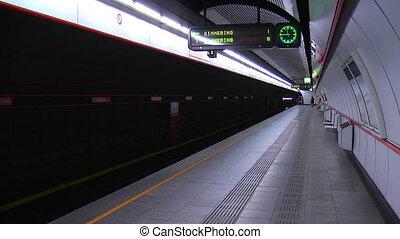 vienne, autriche, station, métro