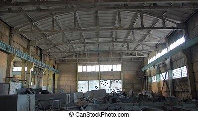 vieux, bâtiment industriel