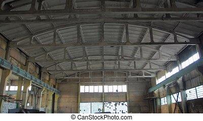 vieux, béton, bâtiment industriel
