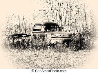 vieux, camionnette