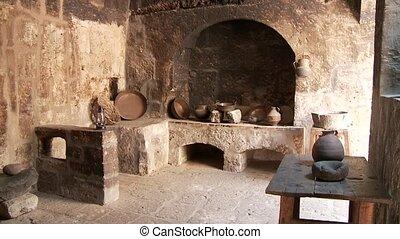vieux, catalina, cuisine, abbaye, santa