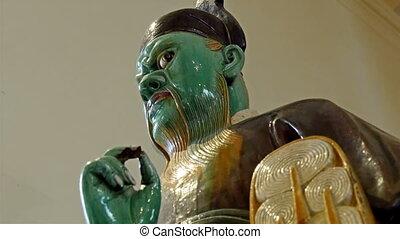 vieux, couleur, figure, vert, statue, homme