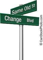 vieux, décision, même, rue, choisir, ou, changement