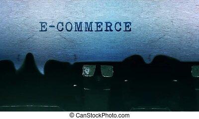 vieux, feuille, e-commerce, typewriter., mots, vendange, papier tapant