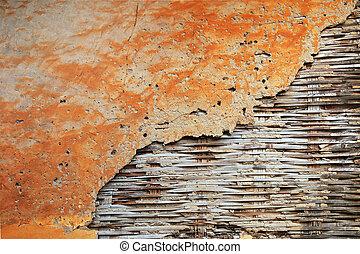 vieux, fond, mur, texture