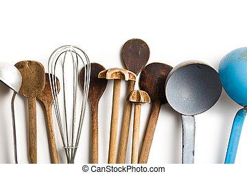 vieux, kitchenware