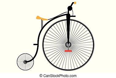 vieux, modèle, vélo