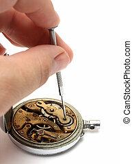 vieux, montre, réparation