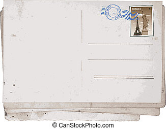 vieux, paris, cartes postales