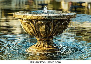 vieux, pierre, fontaine