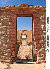 vieux, ruines, désert