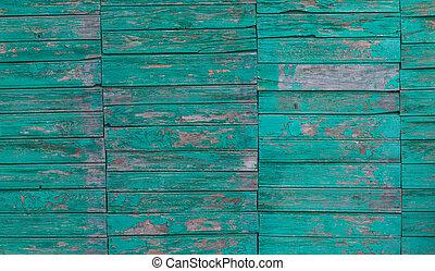 vieux, vert, planche