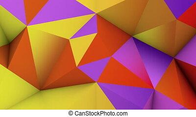 vif, render, couleur, résumé, poly, bas, surface., boucle, 3d