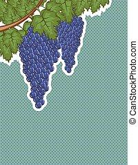 vigne, raisins, fond
