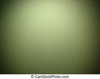 vignette, noir, frontière, fond, résumé, cadre, centre, grunge, projecteur, vert, vendange
