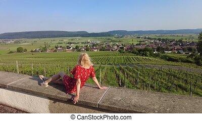 vignobles, hallau, suisse
