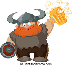viking, bière, dessin animé