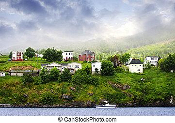 village, terre-neuve, peche