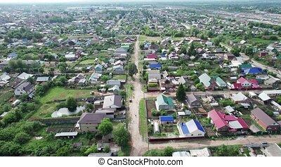 village, vue, aérien