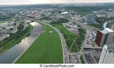 ville, 13, aérien, sur, rivière, vue