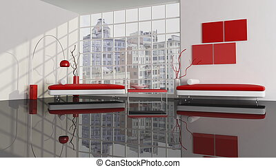 ville, appartement, contemporain