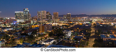 ville, arizona, aérien, phénix, état, en ville, horizon, capital, vue