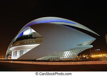 ville, arts, moderne, valence, sciences, architecture, espagne