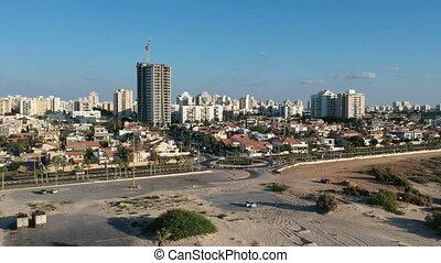 ville, ashdod, vue aérienne