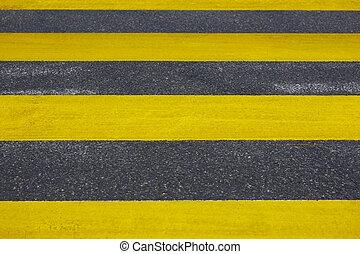 ville, asphalte, detail., signal., rue piétonnière, trafic, fond, crossing.