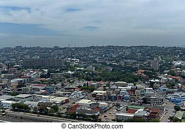 ville, au-dessus, durban, vue