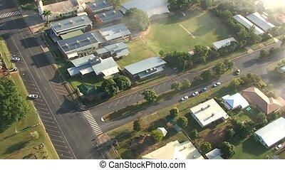 ville, australie, vue aérienne