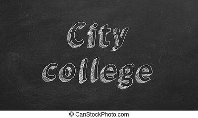 ville, collège
