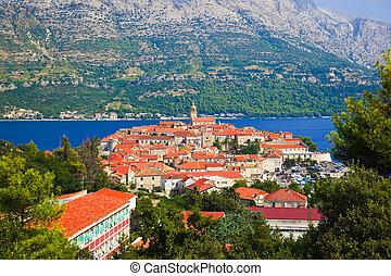 ville, croatie, korcula