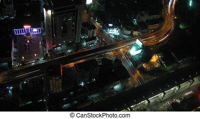 ville, défaillance, zoom, 2, trafic, temps