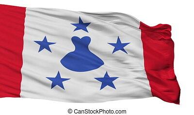 ville, drapeau, isolé, polynésie française, austral, îles