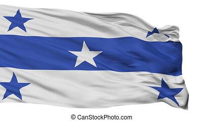 ville, drapeau, isolé, polynésie française, gambier, îles