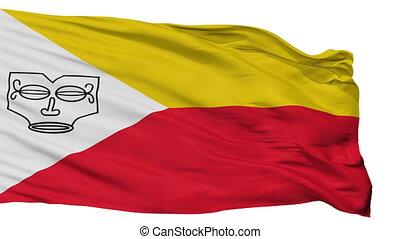 ville, drapeau, isolé, polynésie française, marquesas, îles