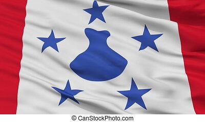 ville, drapeau, polynésie française, closeup, austral, îles