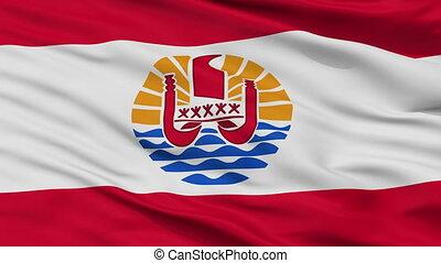 ville, drapeau, polynésie française, closeup, france