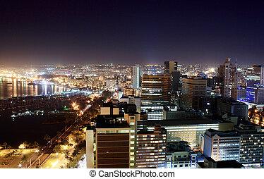 ville, durban, nuit